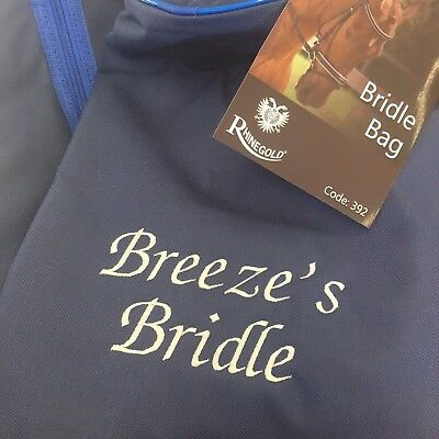Personalised, Embroidered Bridle Bag