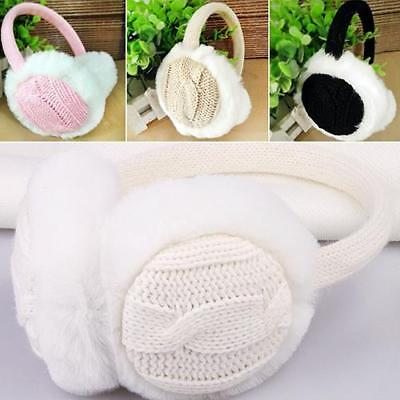 Top Quality Women Girl Winter Muffs With Fur Ear Warmers Protector From Cold