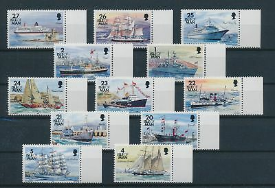 LH24840 Isle of Man edges boats sailing ships fine lot MNH