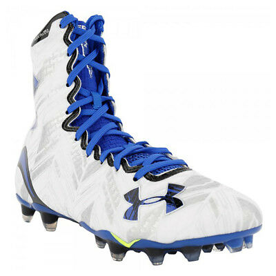 NEW Mens Under Armour LAX Highlight MC Lacrosse Cleats White / Blue Size 16 M