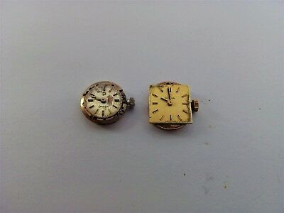 Ladies Omega Cal 580 & 484 Swiss Wrist Watch Movements For Spares/repairs