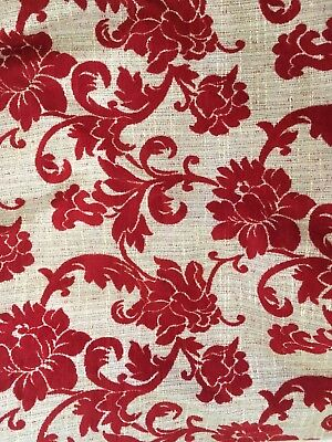 Red full length curtains, VGC, lined