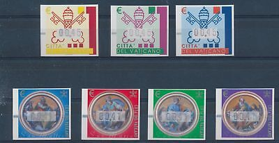 LH24997 Vatican imperf ATM stamps fine lot MNH