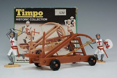 Timpo Historic Collection Picture Box Catapult & 2 Standing Crusaders 753 Boxed