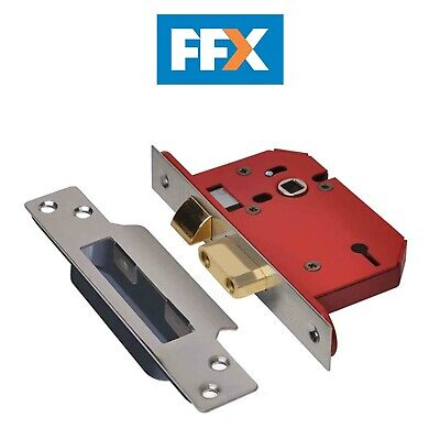 Union Y2203S-SS-2.5 StrongBOLT Stainless Steel 3 Lever Mortice Sash Lock Visi
