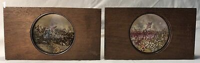 2 Civil War Magic Lantern Slides: Pickett's Charge, Fight at the Stonewall, 1863