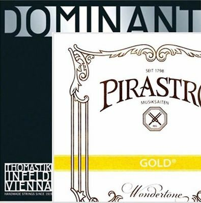 1 dominant violin strings set 4/4 135B A,D,G with gold label E
