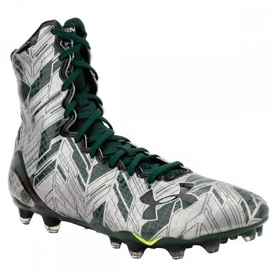 NEW Mens Under Armour LAX Highlight MC Silver / Green Lacrosse Cleats Size 16 M