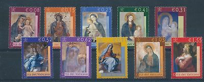 LH25134 Vatican madonna & child paintings fine lot MNH