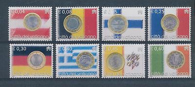 LH25150 Vatican Euro coinage flags fine lot MNH