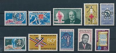LH25179 Haute Volta nice lot of good stamps MNH