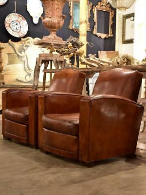Pair of 1950's French club chairs – vintage club chairs