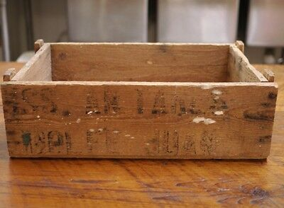 Vintage WWII USS Antares AG-10/AKS-3 Golfe Juan Small Wooden Storage Crate Box