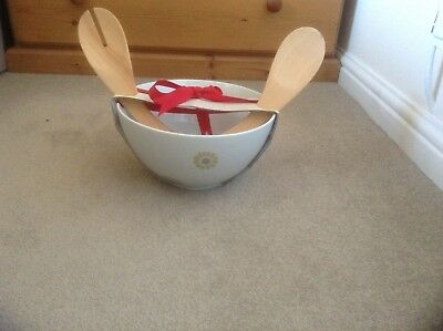 BNWT LAURA ASHLEY Salad Dish And Servers