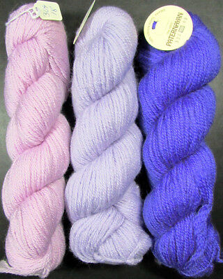 3x Needlepoint/Embroidery THREAD Paternayan 3-ply PersianWool(100g)/Purple-LB108