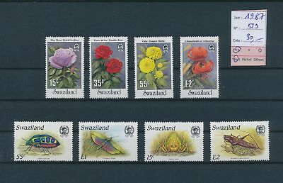 LH26336 Swaziland 1987 plants insects fine lot MNH cv 30 EUR