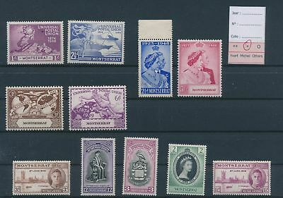LH26839 Montserrat nice lot of good stamps MH