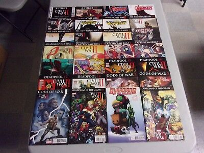 Civil War Ii Mixed Tie In Comic Lot (128 Comics/wolverine/x-Men/iron Man/more)
