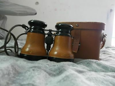 Vintage Binoculars with Leather Grips