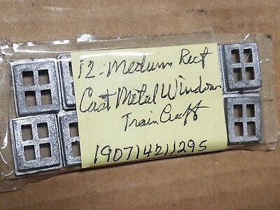 OO Train Craft WINDOWS x12 Cast metel 4 Pane MAYBE CAB 00 New but NO PACKAGING
