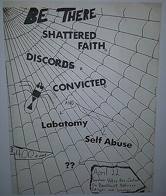 SHATTERED FAITH CONVICTED DISCORDS CONCERT FLYER PUNK private poster fliers 45