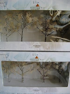 DEPT 56 - Seasons Bay - WINTER TREES - 2 Boxes - NEW - RARE - #53384