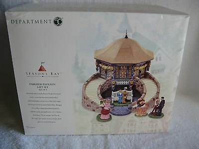 DEPT 56 - Seasons Bay - PARKSIDE PAVILION GIFT SET - NEW - Set of 9 - #53412