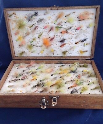 Vintage Triple Layered Box of  Fly Fishing Flies! Useful or decorative item?