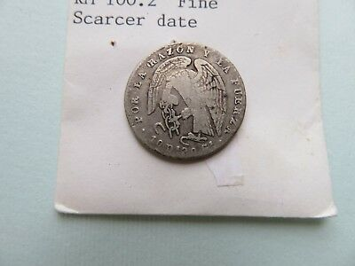 Chile 2 Reales, 1849  SCARCE DATE silver coin