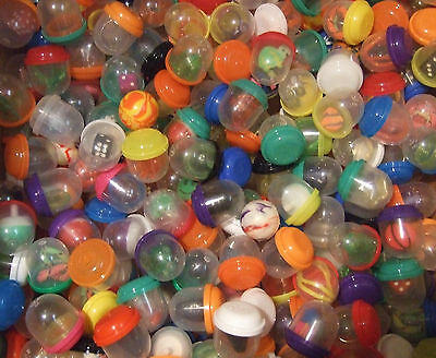 """50pc. MIX BALLS & 1"""" VENDING CAPSULES FILLED WITH TOYS, RINGS AND OTHER THINGS"""
