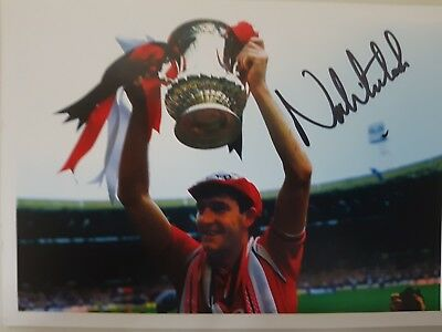 Norman Whiteside signed card 1985 FA CUP Win
