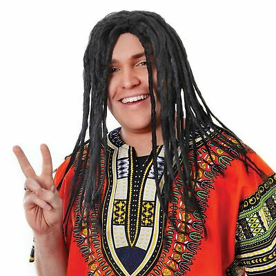Adult Mens Reggae Wig Dreadlocks Rasta Bob Marley Fancy Dress Accessory
