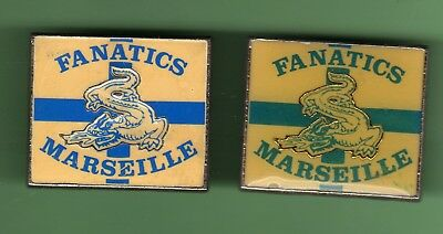 O.M  OLYMPIQUE DE MARSEILLE *** FANATICS *** Lot de 2 pin´s differents  - 0098