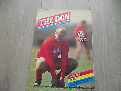 1985-86 Aberdeen v Dundee   -  Scottish Premier