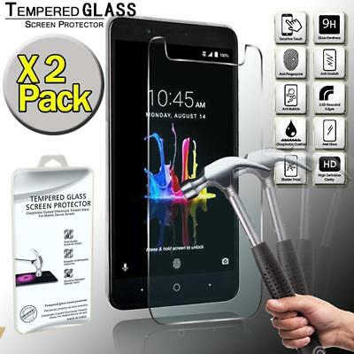 2 Pack Tempered Glass Screen Protector Cover For ZTE Zmax Pro Z982