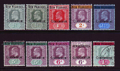 New Hebrides.1908 Anglo-French Condominium. Britsh Issues. Mounted Mint.