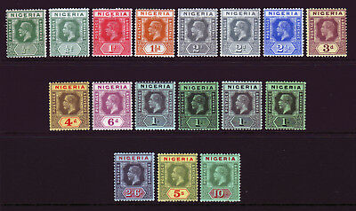 NIGERIA. 1/2d to 10/-. MOUNTED MINT SELECTION.