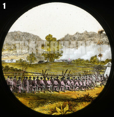 Civil War Magic Lantern Slide Battle of Laurel Hill West Virginia July 7-11 1861