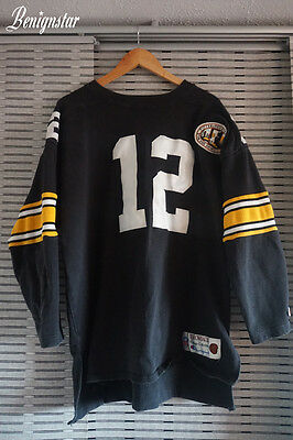 Pittsburgh Steelers Terry Bradshaw Champion American Football Jersey Sweatshirt