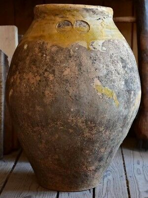 Antique Frejus olive oil jar - like biot jar French olive jar