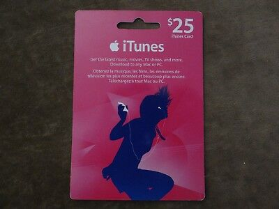 iTunes Gift Card $25 Value