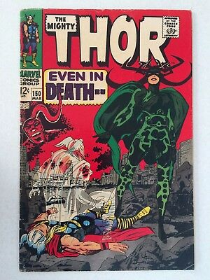 Thor #150   Jack Kirby 1968  Hela cover and appearance   VG