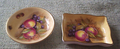 Two signed Ainsley Pin Dishes.