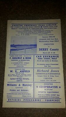 Chester City V Derby County League Cup 1964-65