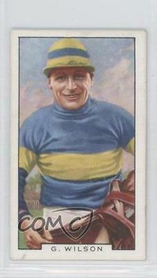 1936 Gallaher Famous Jockeys Tobacco Base #36 Gerry Wilson MiscSports Card 1x2