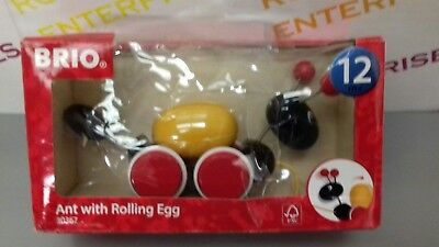 Brio Pull Along Toddler Toy Ant With Rolling Egg NEW Box Very Poor