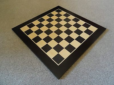 "(STUNNING!) Large 18"" Chess Board 'Maple Natural & Black' (45cm) - (BRAND NEW!)"