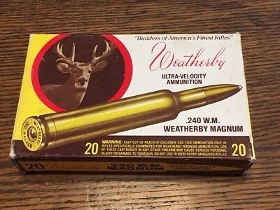Weatherby 240 Weatherby Magnum Vintage Box with brass