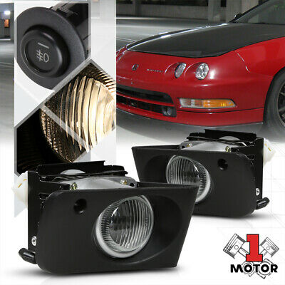 Acura 94-97 Integra Yellow Lens Fog Lights Front Driving Lamps Left+Right+Switch