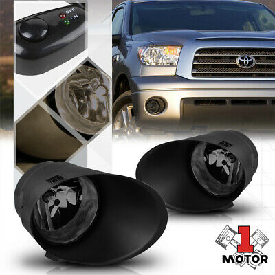 Smoked Lens Fog Light Bumper Lamp w/Switch+Harness+Bezel for 07-13 Toyota Tundra